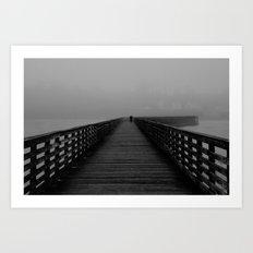 Alone on the Pier Art Print