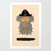 pirate Art Prints featuring Pirate  by okionero