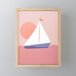 Abstraction_Sailing_Ocean Framed Mini Art Print