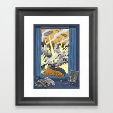 Supercat Framed Art Print