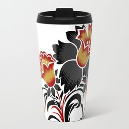 Abstract flowers decoration Travel Mug