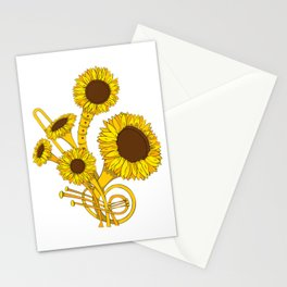 Sunflower Orchestra Stationery Cards