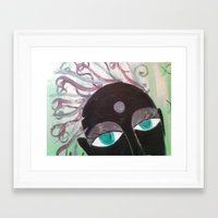 hindu Framed Art Prints featuring Hindu Woman by Kathead Tarot/David Rivera