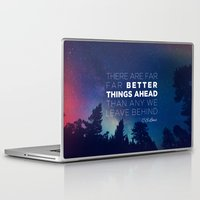 "pocketfuel Laptop & iPad Skins featuring CS Lewis ""Better Things Ahead"" by Pocket Fuel"