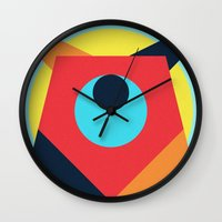 pagan Wall Clocks featuring PAGAN ANIMALS - BEAR by Atelier FP7