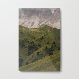 Bumby mountains of Italy, Europe | Fine art print by Anneloes van Acht Metal Print