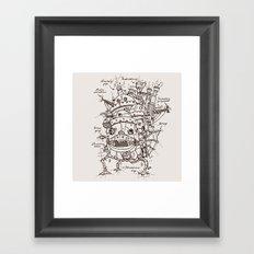 Howl's Moving Castle Plan Framed Art Print