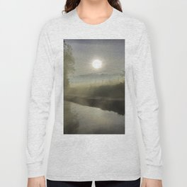 First Frosty Morning on Oxford Canal Long Sleeve T-shirt