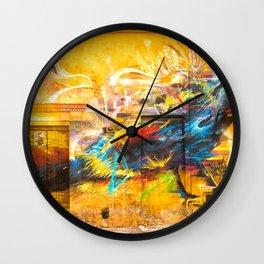 Street Art Bird Wall Clock