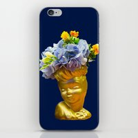 golden girls iPhone & iPod Skins featuring 'Golden Girls' Floral Headvase by The Horticult