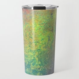 Copper Mixed Media Painting On Canvas Under UV Spectrum Lightbulb Travel Mug