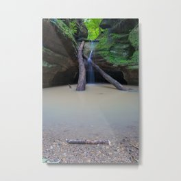 Time Passes and Waterfalls Metal Print