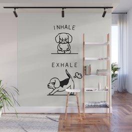 Inhale Exhale Beagle Wall Mural