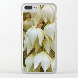 White Whimsie Clear iPhone Case