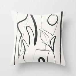 Abstract line art 9 Throw Pillow