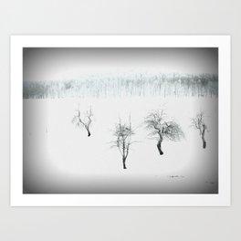Bare bones in Winter Art Print