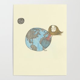 One Delusionary Loon Lands in the Pocket of the Earth Poster