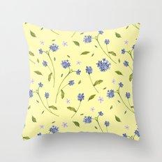 Botanical Print (Hound's Tongue)  Throw Pillow