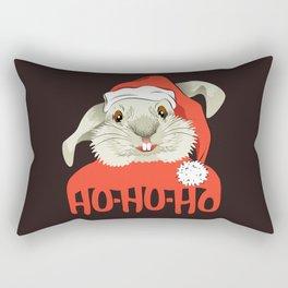 The Christmas Rabbit Rectangular Pillow