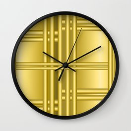 Abstract background with gold bars Wall Clock