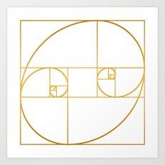 Golden Oval Art Print