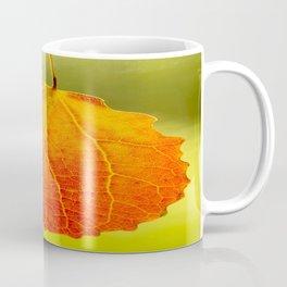 Orange Leaf Vivid Green Background #decor #society6 #buyart Coffee Mug