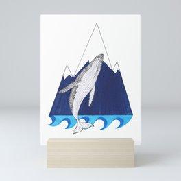 Whale mountain Mini Art Print