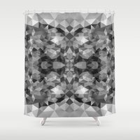 gray pattern Shower Curtains featuring Gray pattern 100115 by Veronika