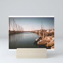 Seafront village 1 Mini Art Print