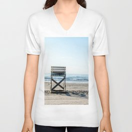 While the Lifeguards Away Unisex V-Neck