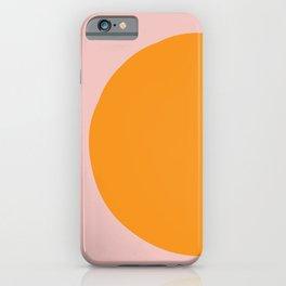 Margo Collection: Minimalist Modern Geometric Orange Circle on Pink iPhone Case