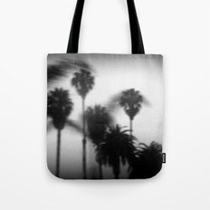 moving palm trees Tote Bag