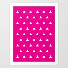 Magenta Triangles Art Print