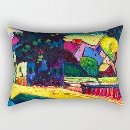 Wassily Kandinsky - Murnau, Landscape with Green House - Abstract Art Rectangular Pillow