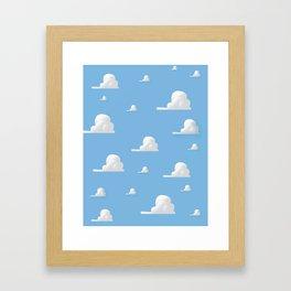 Cartoon Cloud Pattern Framed Art Print