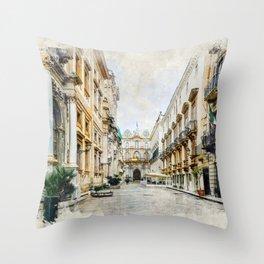 Trapani art 1 Throw Pillow