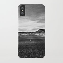 middle of the road iPhone Case