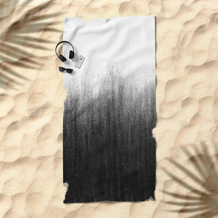 Charcoal Ombré Beach Towel