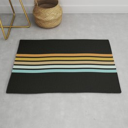 Retro Sunshine Stripes Rug