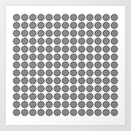 Background abstract, black-and-white pattern, vector, circle texture design. Art Print