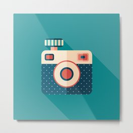 Camera with Flash Metal Print