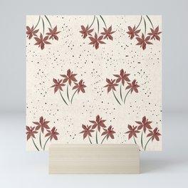 Red Flower power Mini Art Print