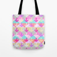 anchors Tote Bags featuring Anchors by Ornaart