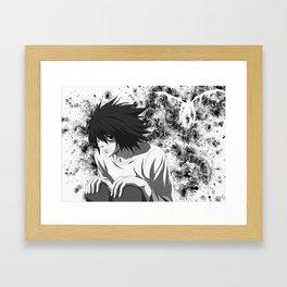 Death Note L Framed Art Print