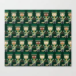 Super cute sports stars - Ice Hockey Green Canvas Print