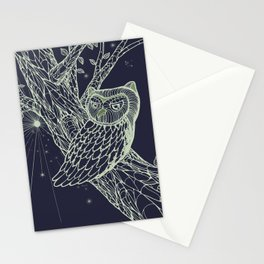 Owl at night Stationery Cards