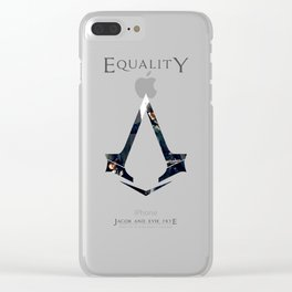 Jacob and Evie Frye, Master Assassins of Industrial London Clear iPhone Case
