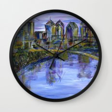 Philly Skyline Wall Clock