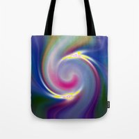 nietzsche Tote Bags featuring Dancing Stars by Geni