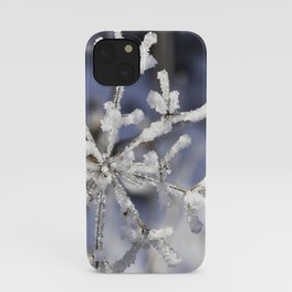 Winter snowflake plant iPhone Case